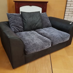 Small Black Two Seater Sofa - CT Bilston