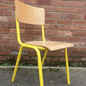 Stylish Stacking Chairs, Yellow Frame