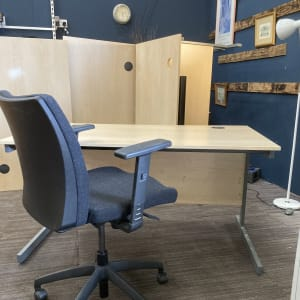 Special offer 120cm wide desks and operator chair. X 9 sets available