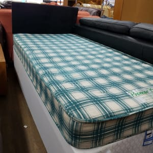preowned single set with headboard