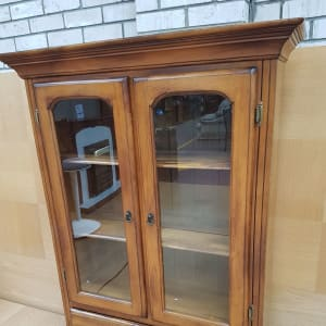 Solid Wood Display Cabinet - CT Bilston