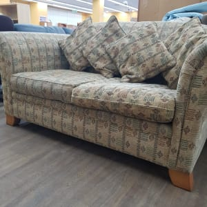 Patterned 2 seater sofa