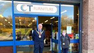 Visit by Peterlee Mayor to new store