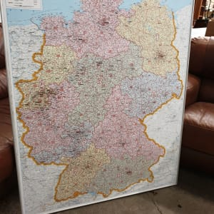 Large framed Map of Germany
