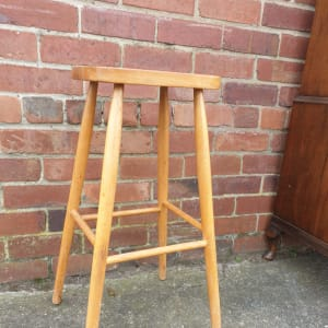 Vintage Oak Lab Stool