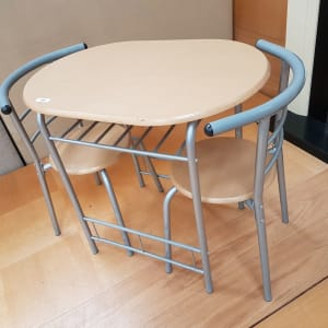 Small Metal Framed Dining Table and Chairs - CT Bilston