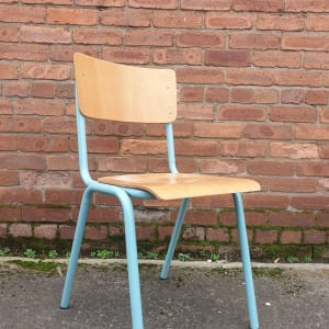 Stylish Stacking Chairs with Blue Frame