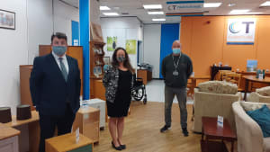 New Northfield store visit by local MP