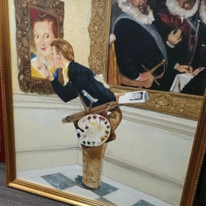 The Art Critic by Norman Rockwell (Reproduction oil painting)